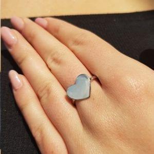 טבעת משטח לב