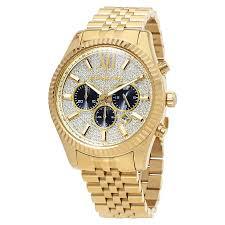 שעון זהב משובץ לגבר