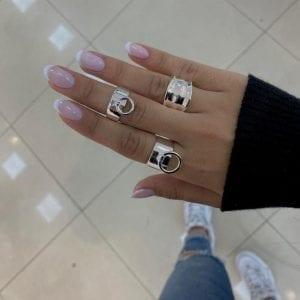 טבעת חישוק כסף